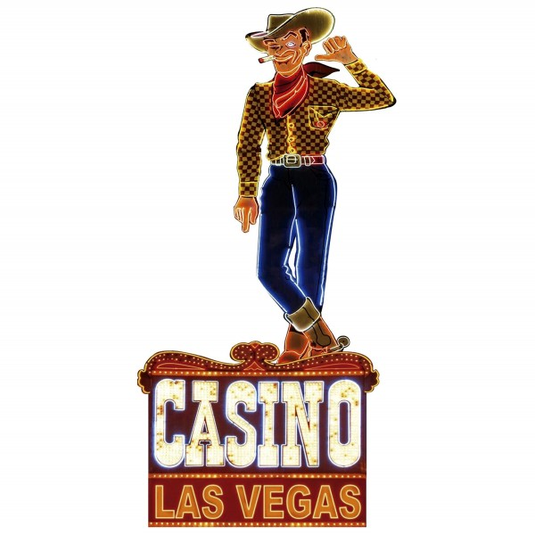 Geprägtes Blechschild Casino Las Vegas MP114